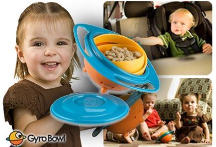 GYRO BOWL יפתור לכם את בעיית הלכלוך ושפיכת האוכל התמידית מהצלחת