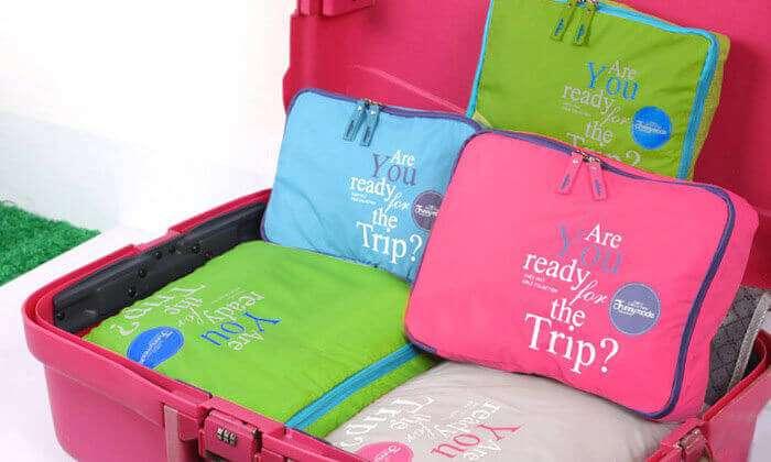סט 5 ארגוניות למזוודה - 3 צבעים לבחירה