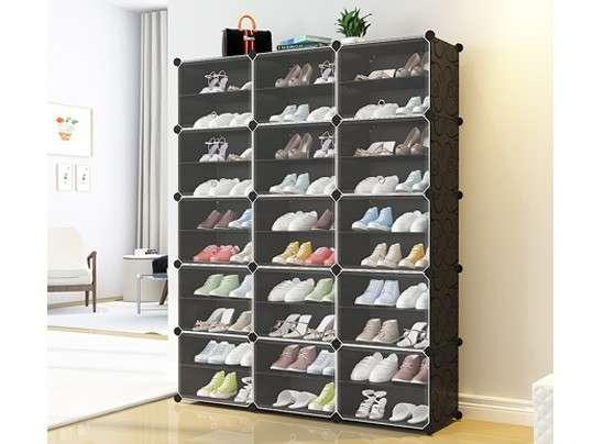 יחידת אחסון מודולרית לכ- 60 זוגות נעליים, עשויה PVC ומסגרת פלדה