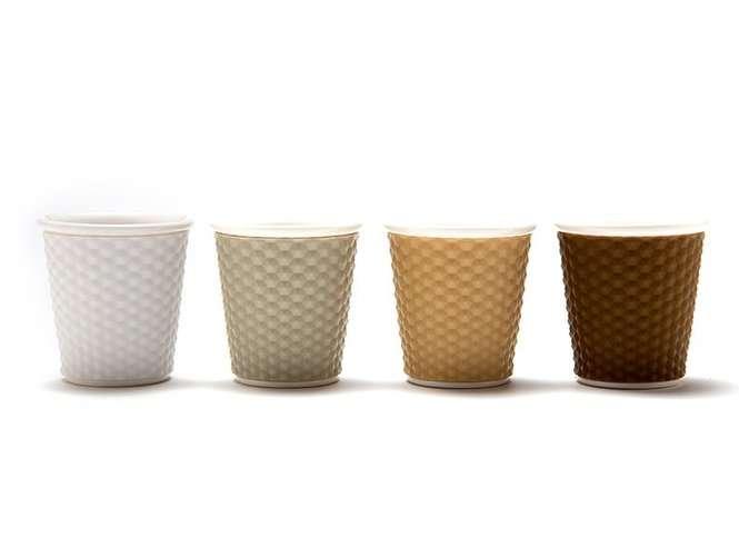 מארז 4 כוסות אספרסו פורצלן 80 מ״ל