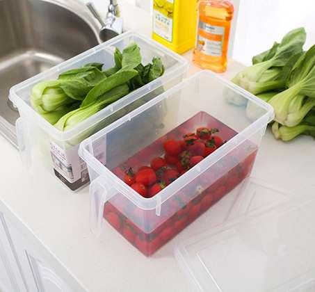 קופסת אחסון למזון בעלות ידית אחיזה ומכסה