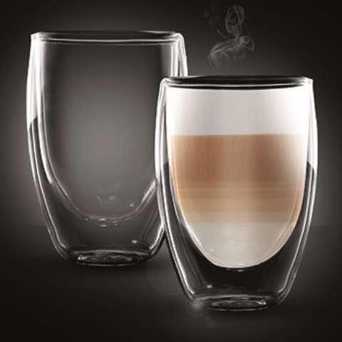 """זוג כוסות דופן כפולה לתה/קפה הפוך 350 מ""""ל קולומביה"""