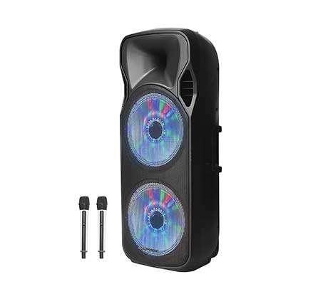 בידורית Bluetooth עם תאורת דיסקו ו2 מיקרופונים אלחוטיים Pure Acoustics דגם ZX-1212