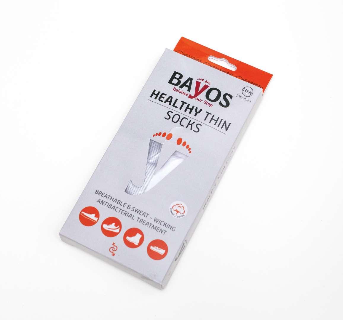 גרביי בריאות דקות – צבע לבן מבית BAYOS