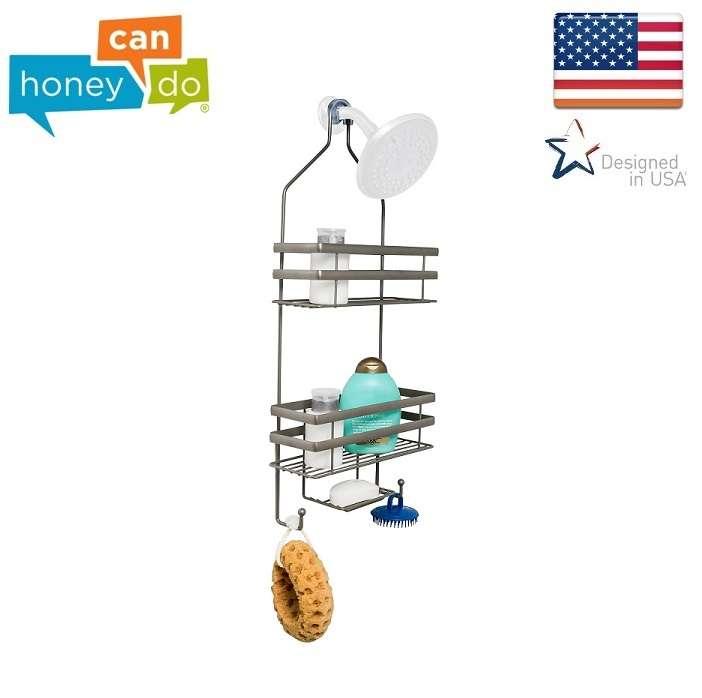 מתקן תלייה לשמפו וסבון במקלחת ללא ברגים דגם BTH-08460 מבית  honey can do