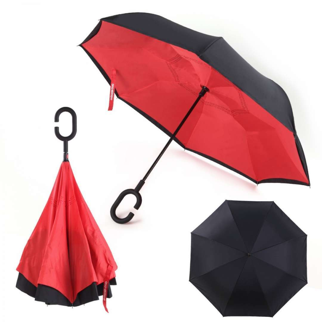 מטריה מתהפכת המאפשרת נוחות מקסימלית בזמן השימוש