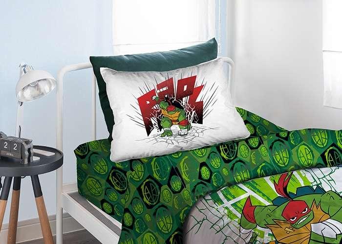 סט מצעים 100% כותנה לילדים צבי הנינג'ה Turtles - דגם ירוק