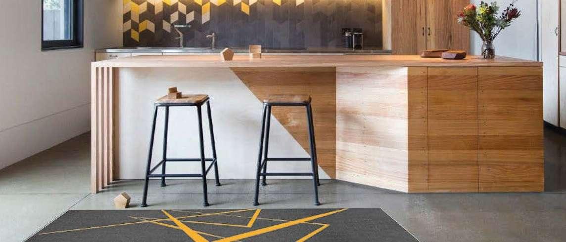 שטיחוני מטבח מעוצבים סופר פאשן דגם קרוס גודל 60X120