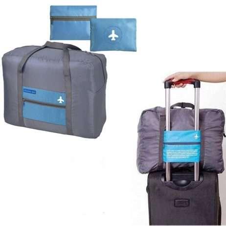 תיק נסיעות מתקפל לנרתיק, מתלבש על מזוודת טרולי ב-35 ₪
