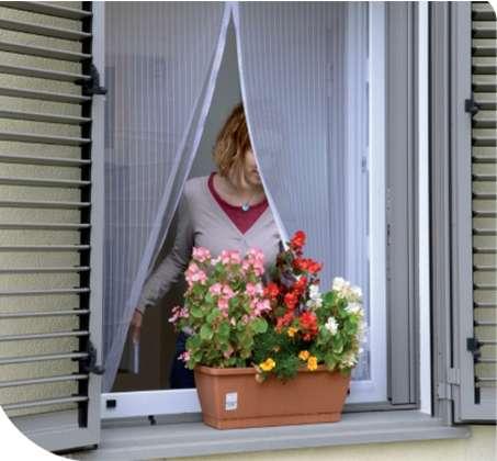 רשת נגד יתושים לחלון בשילוב מגנטים בצבעים לבחירה