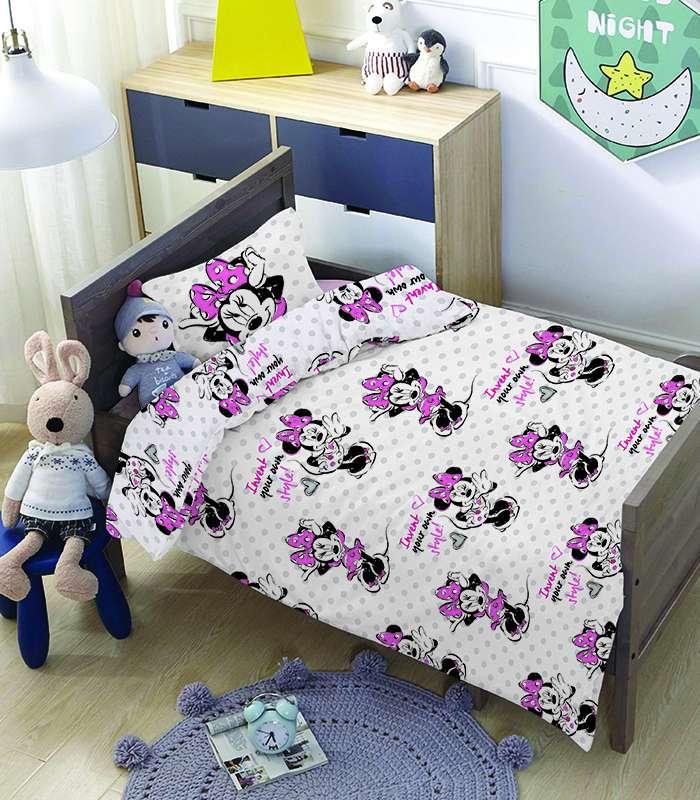 סט מצעים 3 חלקים 100% כותנה דיסני למיטת תינוק/מעבר