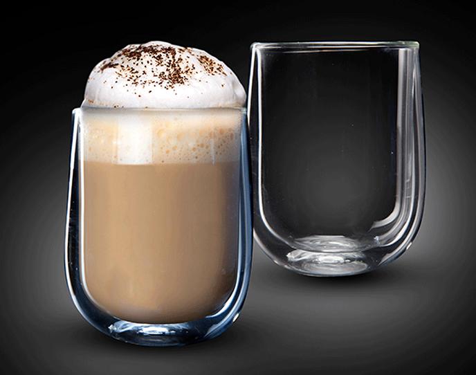 """זוג כוסות 360 מ""""ל Double Glass דגם VENEZUELA"""
