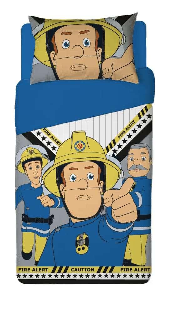 סט מצעים למיטת יחיד 100% כותנה לילדים דגם סמי הכבאי
