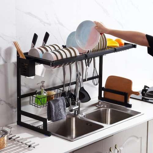 מתקן ייבוש כלים 2 קומות מפואר מעל הכיור שני דגמים לבחירה