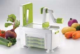 מכשיר להכנת מגוון צורות של חיתוך ירקות או פירות - ספירלה, רצועות דקות, פרוסות וסלילים