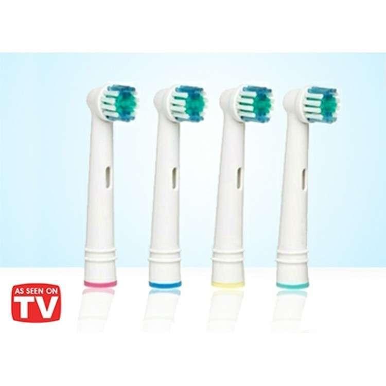 ערכת 4 ראשים תואמים למברשת שיניים חשמלית של חברת Oral-B ובראון