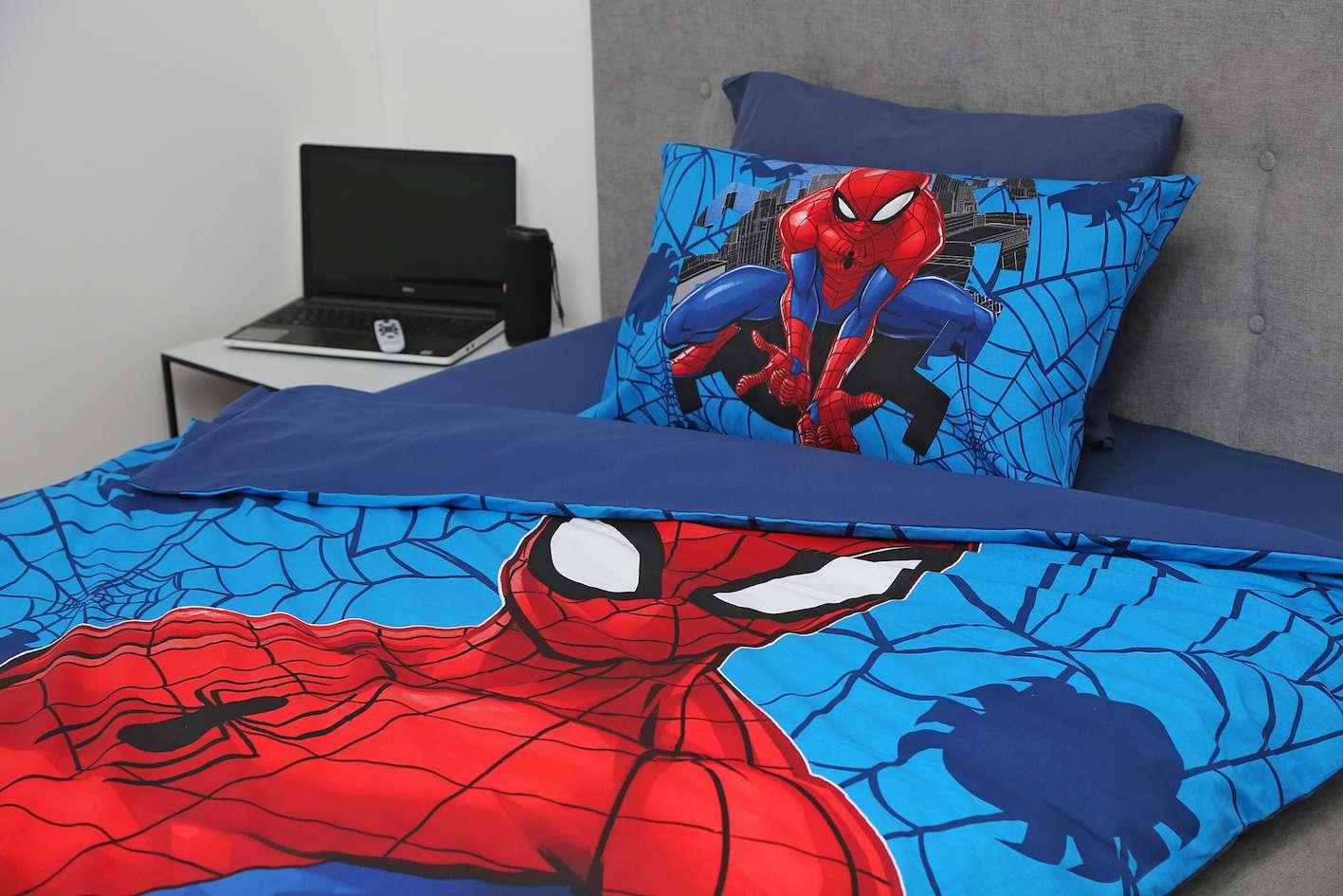סט מצעים למיטת יחיד 100% כותנה לילדים דגם ספיידרמן 2021