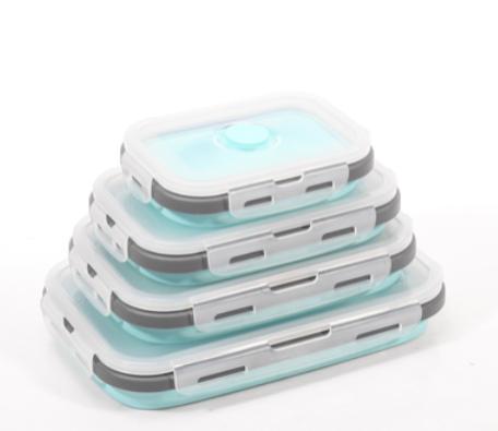 סט 4 קופסאות סיליקון מתקפלות - פתרון אחסון למטבח! S-free