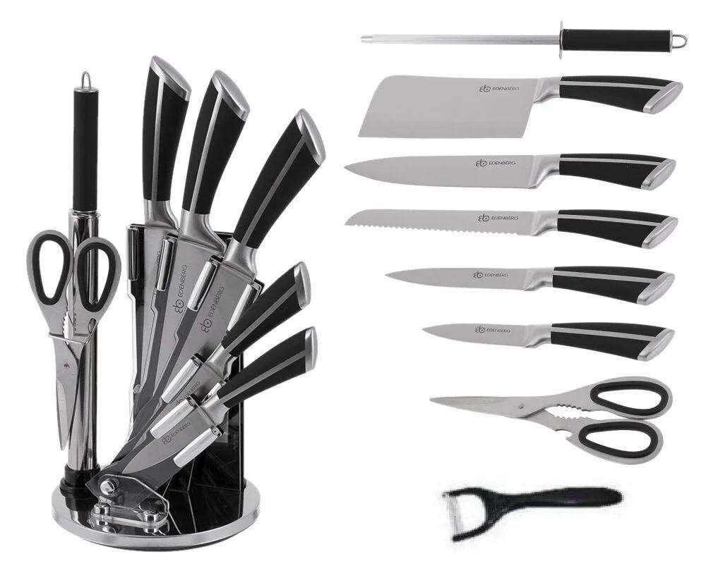 סט סכינים 9 חלקים עם מעמד דגם EB-3611