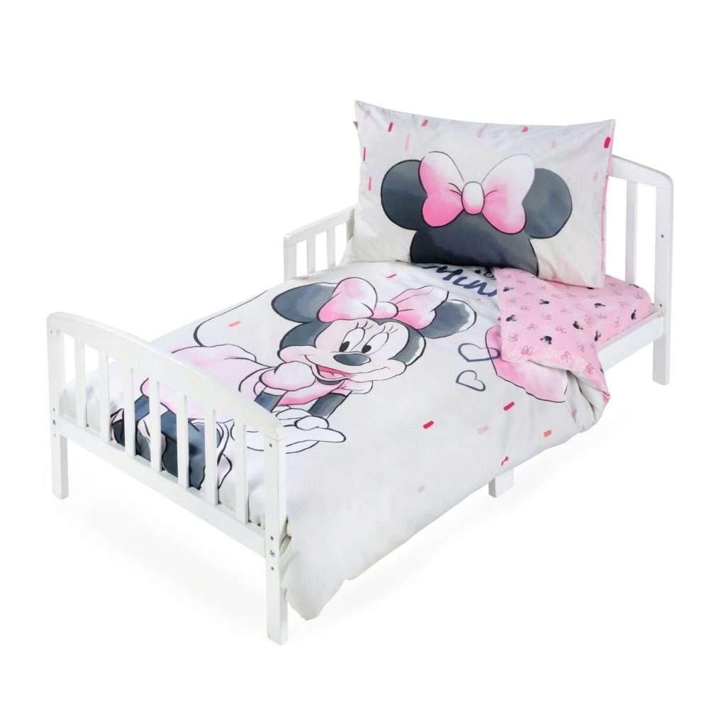 סט מצעים לילדים 100% כותנה למיטת מעבר/תינוק 3 חלקים דגם סט מעבר מיני האחת והיחידה
