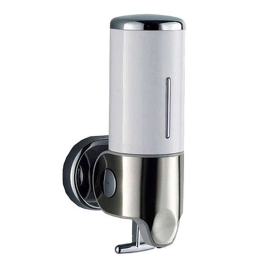 דיספנסר סבון נתלה בהדבקה ללא קידוח לחדרי אמבטיה בגוונים לבחירה Push2Lock
