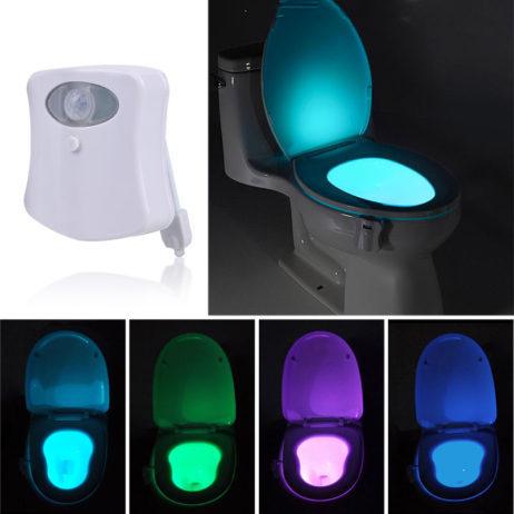 תאורה אוטומטית (עם חיישן תנועה ואור) לאסלה, מחליפה צבעים