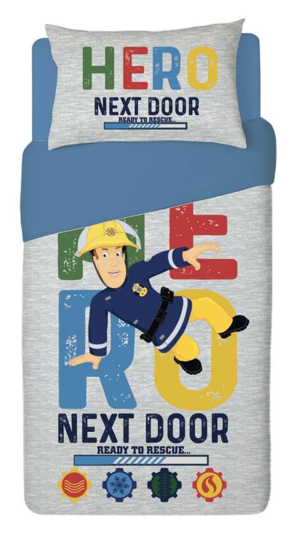 סט מצעים למיטת יחיד / נוער  100% כותנה לילדים דגם סמי הכבאי