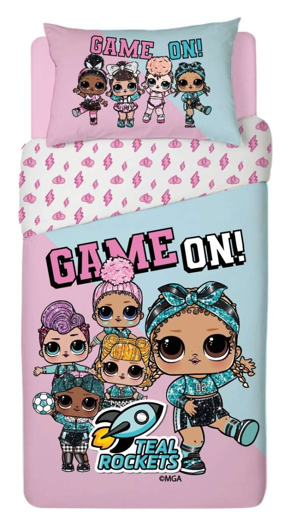 סט מצעים למיטת יחיד / נוער  100% כותנה לילדים דגם LOL