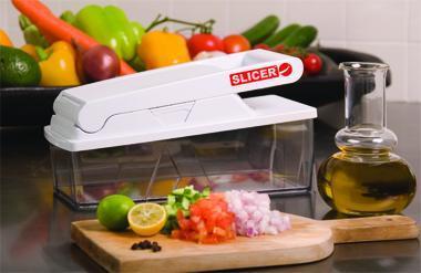 SLICER PRIMIUM - בעל 3 סכינים שונים לחיתוך סלט ירקות, צ'יפס, עגבניות ועוד