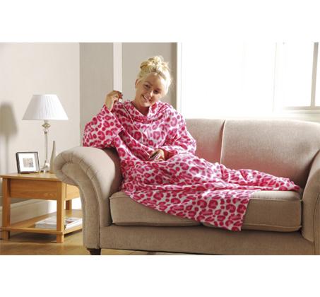 שמיכת פליז עם שרוולים Cosy TV Blanket מפנקת ומחממת במיוחד